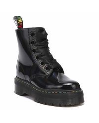 Dr. Martens Dr. Martens Molly Rainbow Patent Womens Black Boots