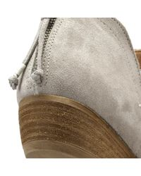 Cara Gray Womens Grey Goose Suede Baset Ankle Boots