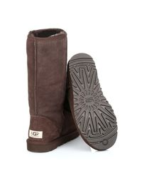 Ugg - Ugg Classic Tall Womens Chocolate Brown Suede Sheepskin Boots - Lyst