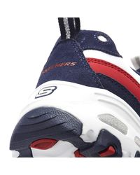Skechers D'lites Sure Thing Womens White / Navy Trainers