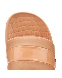 Lacoste Pink Fraisier Leather Slides