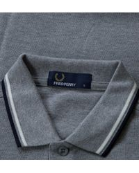 Fred Perry - Blue Fred Perry Twin Tipped Fred Perry Shirt Steel Marl Shirts & Polos for Men - Lyst