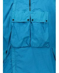 C P Company Blue Pullover Jacket for men