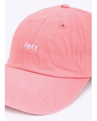 Obey - Pink Jumble Bar Hat Ii 6 Panel for Men - Lyst