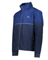 Lacoste - Blue Zip Jacket for Men - Lyst