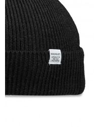 Norse Projects - Black Norse Beanie for Men - Lyst