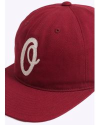 Obey - Red Bunt 6 Panel Hat for Men - Lyst