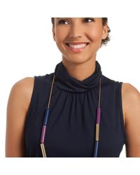 Trina Turk - Blue Color Tube Necklace - Lyst