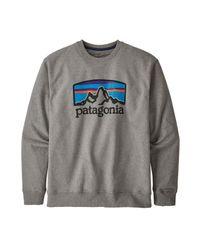 Horizons Uprisal Crew Sweatshirt Gravel Heather di Patagonia in Gray da Uomo