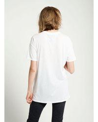 Zoe Karssen White L Amour Boyfriend Fit T-shirt