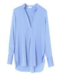 Camisa de seda Bmb Mabillon By Malene Birger de color Blue