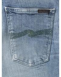 Vaqueros de mezclilla para hombre Dean Worn de algodón orgánico verde Nudie Jeans de hombre de color Blue