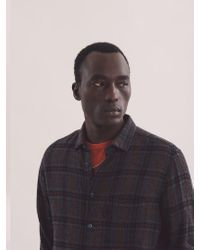 Camicia Curtis In Blu di YMC in Blue da Uomo
