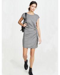 Vestido con cintura anudada en gris de Gussie Velvet By Graham & Spencer de color Gray
