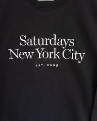 Saturdays NYC Schwarzes Sweatshirt mit Rundhalsausschnitt in Black für Herren