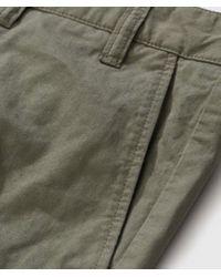Pantalone Linchen Cotton Aros Light Twill di Norse Projects in Green da Uomo