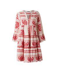 Vestido de bordado rojo de Aztek Ioli de Devotion de color Red