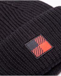 Bonnet en laine noir avec logo d'hiver Woolrich pour homme en coloris Black