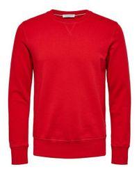 Pull ras du cou Caleb SELECTED pour homme en coloris Red