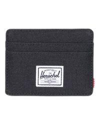 Porte-cartes de blocage Charlie Rfid en tissu noir Herschel Supply Co. pour homme en coloris Black