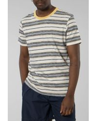 Tee-shirt à rayures Kasper Aigrette foncé SELECTED pour homme en coloris Multicolor