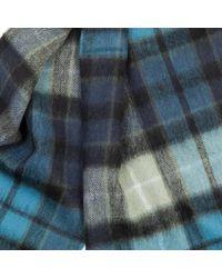 Écharpe noire à carreaux et tartan Barbour pour homme en coloris Black