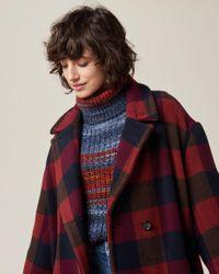 Cappotto da donna Kathyka in lana massiccia di grandi dimensioni di Sessun in Multicolor