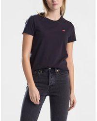 Mineral Black Cotton Perfect T Shirt Levi's