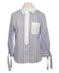 Chemise en coton à rayures Sasha Markus Lupfer pour homme en coloris Blue