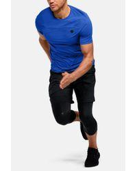 Rush Heat Gear camiseta azul de manga corta entallada Under Armour de hombre de color Blue