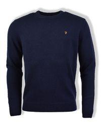 Maglione in maglia Rosecroft True Navy di Farah in Blue da Uomo