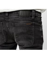 Jeans neri consumati Lin attillati di Nudie Jeans in Black da Uomo