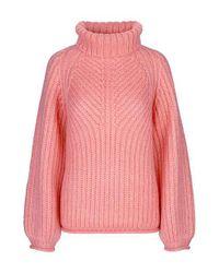 Ponticello lavorato a maglia rosa Nicholas Mohair di Stine Goya in Pink