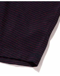 Catalina SS Henley Navy Red Stripes di Outerknown da Uomo
