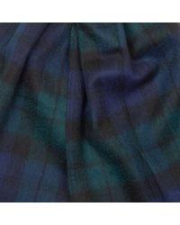 Écharpe noire à carreaux avec tartan Barbour pour homme en coloris Blue