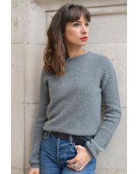 Hanapark Vertdigris Knit di American Vintage in Gray