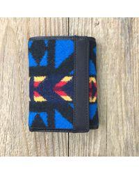 Portefeuille à trois volets en laine et coton La Paz Pendleton en coloris Blue