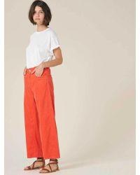 Pantalone Cropze Orange Tiger Orange Cruzeiro di Sessun