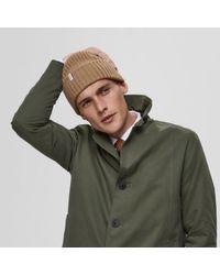 Bonnet en laine mérinos Tigers Eye SELECTED pour homme en coloris Multicolor