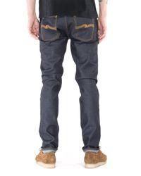 Jeans Dean maigre en coton biologique de 33 tailles avec coton biologique foncé Nudie Jeans pour homme en coloris Blue