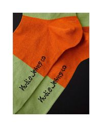 Olsson Colors Multi Socks di Nudie Jeans in Green da Uomo
