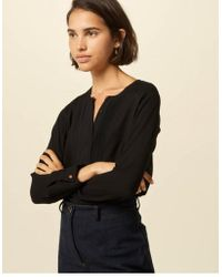 Blusa Simi Negra Sessun de color Black