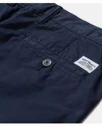 Pantalone slim leggero elasticizzato in cotone scuro Navy Aros di Norse Projects in Blue da Uomo
