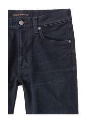 Jean slim Dean noir et bleu maigre Dean Nudie Jeans pour homme en coloris Black