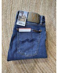Skinny Lin Blu scuro Navy di Nudie Jeans in Blue da Uomo