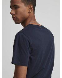 3208 T-shirt con stampa Ethan blu scuro di NN07 in Blue da Uomo