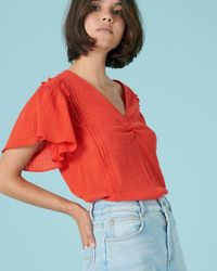 Camba Top di Sessun in Red