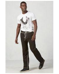 True Religion | Black Contrast Big T Stitch Wide Leg Mens Sweatpant for Men | Lyst