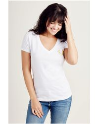 True Religion   Multicolor Relaxed V Neck Womens Tee   Lyst