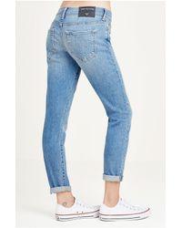 True Religion Blue Karlie Low Rise Bell Bottom Womens Jean